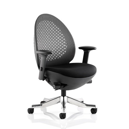 Cyrus Home Office Chair In Black With Castors