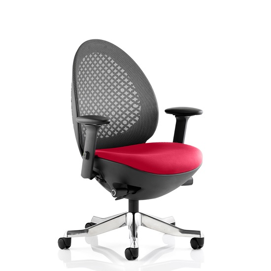 Read more about Cyrus home office chair in cherry with castors