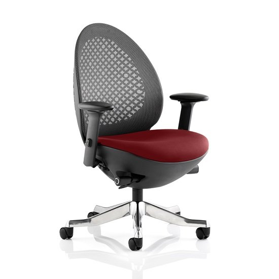 Read more about Cyrus home office chair in chilli with castors