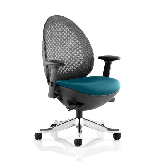 Cyrus Home Office Chair In Kingfisher With Castors