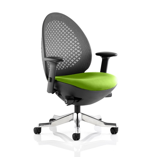 Read more about Cyrus home office chair in green with castors