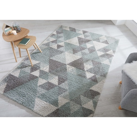 Dakari Nuru Mint And Cream And Grey Finish Rug_1