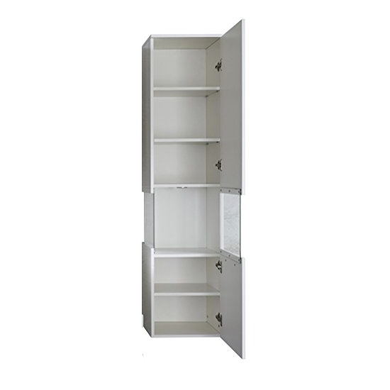 Dale Wall Mount Right Bathroom Cabinet White High Gloss And LED_2