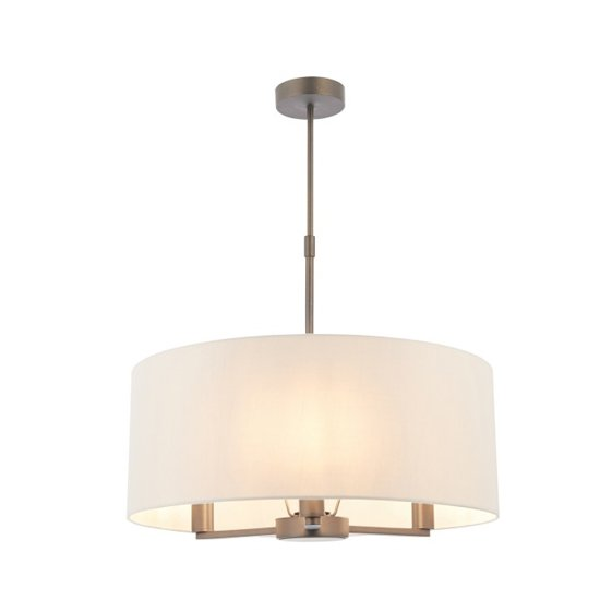 Daley Large Wall Hung 3 Pendant Light In Antique Bronze