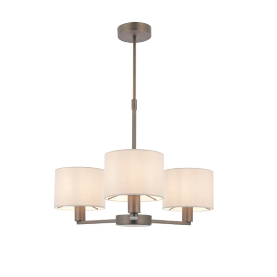 Daley Small Wall Hung 3 Pendant Light In Antique Bronze