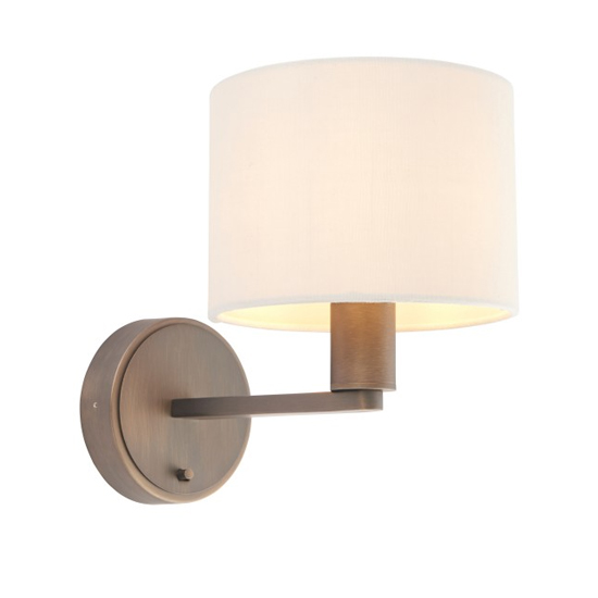 Daley Wall Light In Bronze And Marble Faux Silk_1