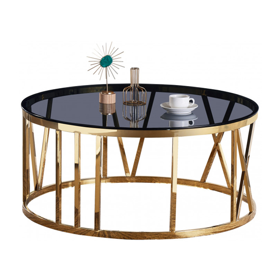 Dalila Black Glass Coffee Table With Gold Stainless Steel Legs_2
