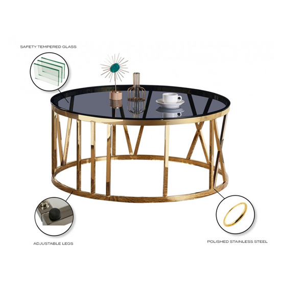 Dalila Black Glass Coffee Table With Gold Stainless Steel Legs_3