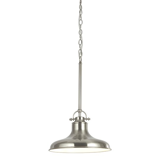 Dallas 1 Light Industrial Pendant Ceiling Light In Satin Silver_1