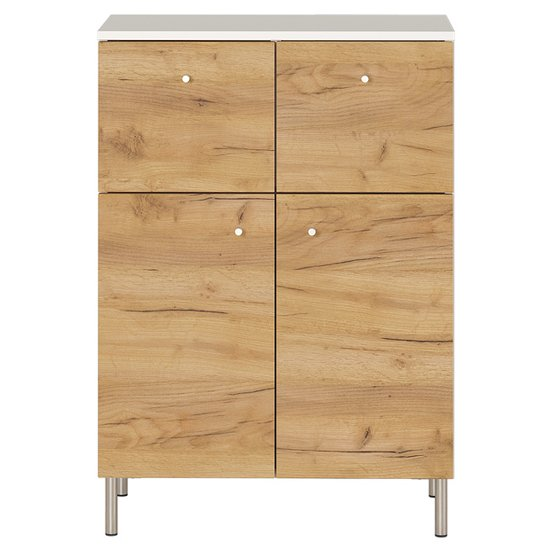 Dallas Chest Of Drawers In White And Navarra Oak
