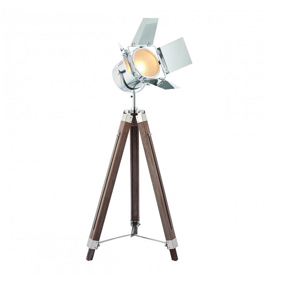 Dalton Adjustable Floor Lamp In Brown Finish