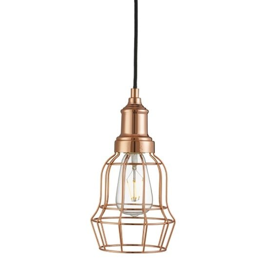 Dama Modern Ceiling Pendant Light In Copper Bell Cage_1