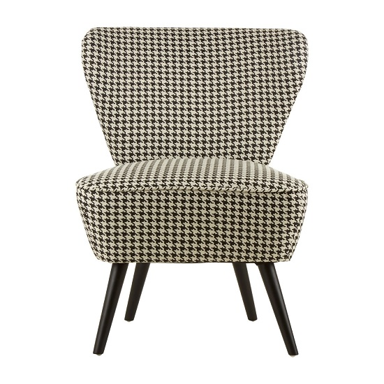 Berehynia Wingback Fabric Bedroom Chair With Black Legs