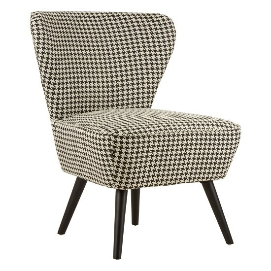 Damiano Wingback Fabric Bedroom Chair With Black Legs_2