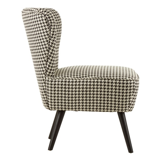 Damiano Wingback Fabric Bedroom Chair With Black Legs_3