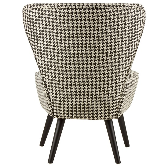 Damiano Wingback Fabric Bedroom Chair With Black Legs_4