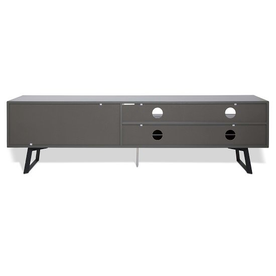 Daniel Extra Large TV Stand In Charcoal Grey With 2 Doors_2