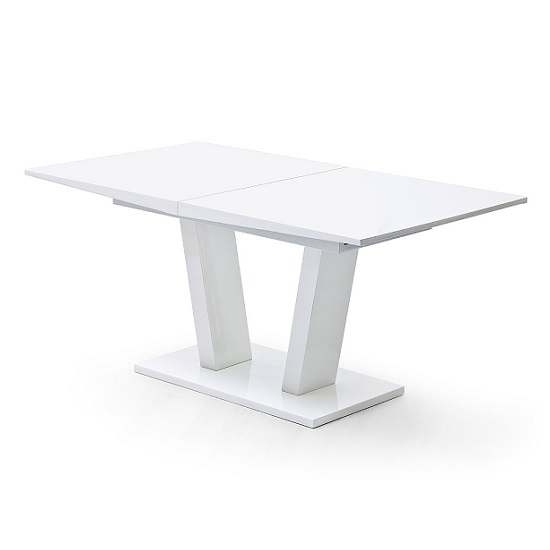 Daniela Extendable Dining Table In White High Gloss_1