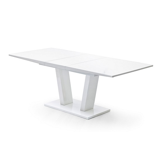 Daniela Extendable Dining Table In White High Gloss_2
