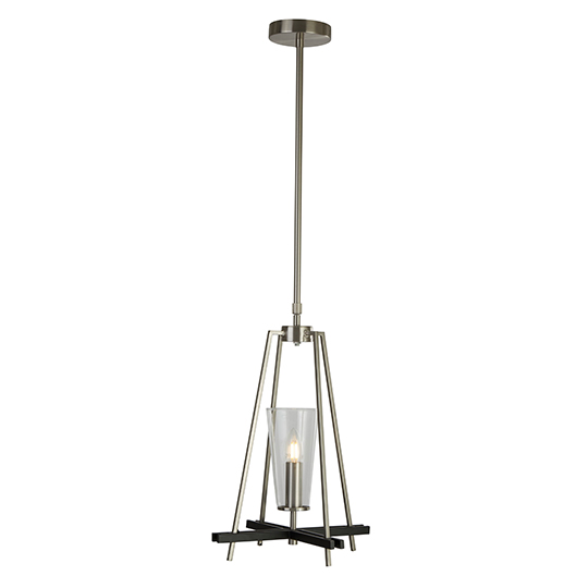 Danika Swing 1 Light Pendant Ceiling Light In Satin Silver