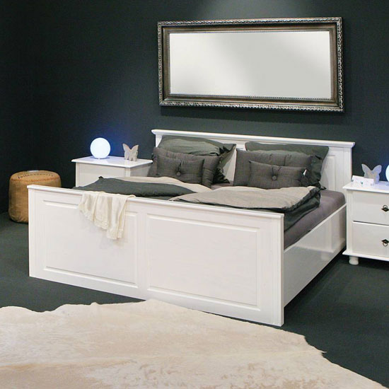 Danz FSC Wooden King Size Bed In White