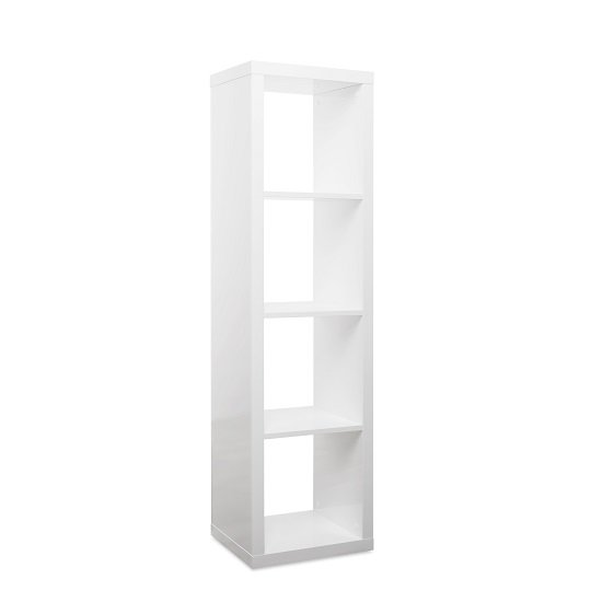 Darby Contemporary Shelving Unit In White High Gloss_1
