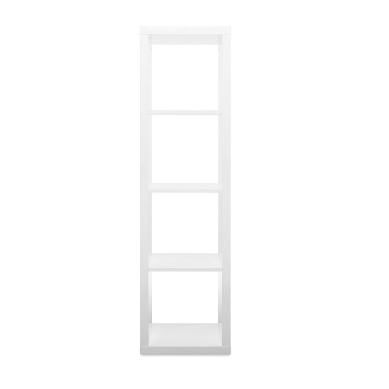 Darby Contemporary Shelving Unit In White High Gloss_2
