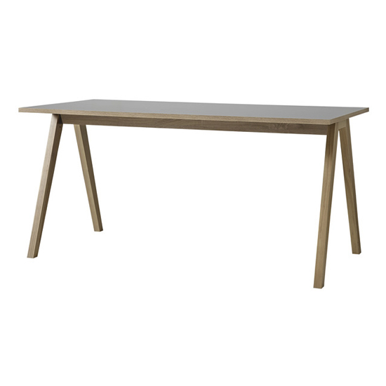 Darcey Wooden Laptop Desk In Anthracite And Sonoma Oak