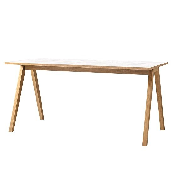 Darcey Wooden Computer Desk Rectangular In White And Oak
