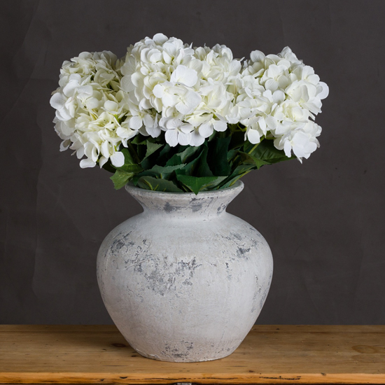 Darcie Ceramic Decorative Vase In Antique White