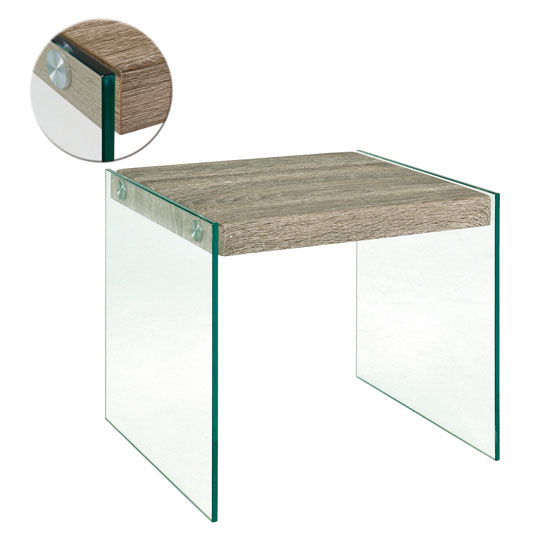 Olymp side table in dark oak with glass legs 18722 olymp side table in dark oak with glass legs aloadofball Choice Image