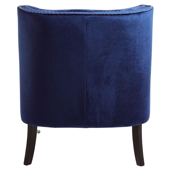 Darligo Velvet Upholstered Armchair In Blue_4