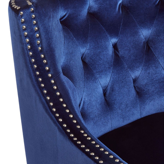 Darligo Velvet Upholstered Armchair In Blue_5