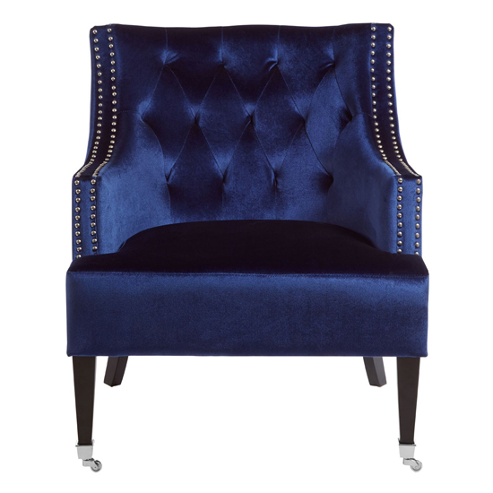 Darligo Velvet Upholstered Armchair In Blue_1