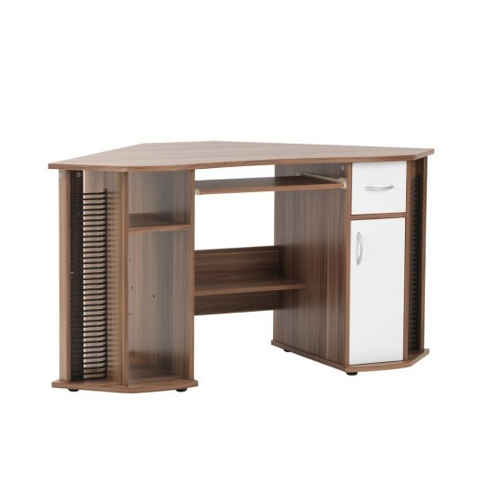 Croft Wooden Corner Computer Desk In Walnut And White_3