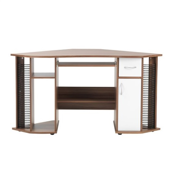 Croft Wooden Corner Computer Desk In Walnut And White_5