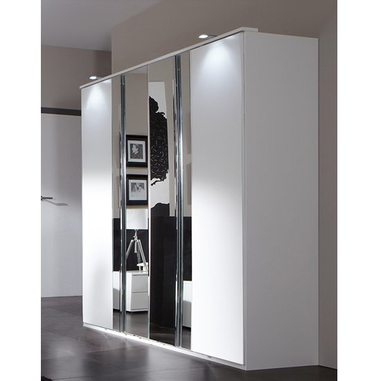 Davos 4 Door Wardrobe in Alpine White_1