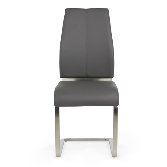 furniture dining chairs dawlish dining chair in grey faux leather and