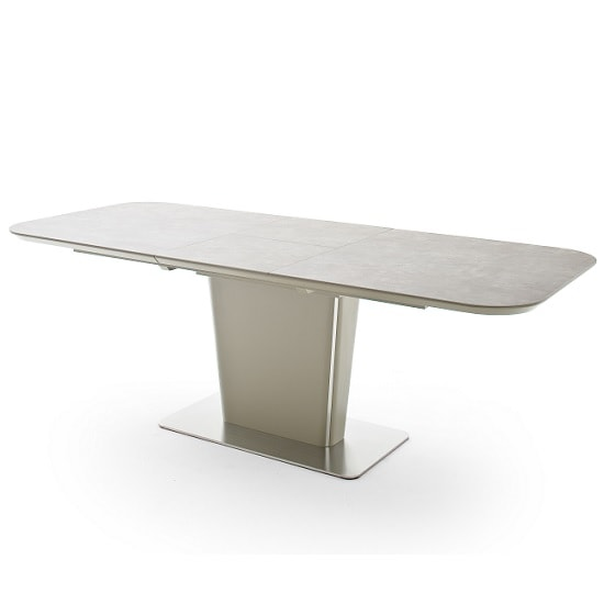 Dawson Ceramic Marble Effect Extending X Large Dining Table Taup_2