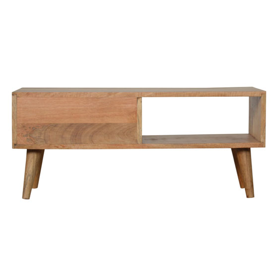 Debby Wooden Coffee Table In Oak Ish Rattan Design_4