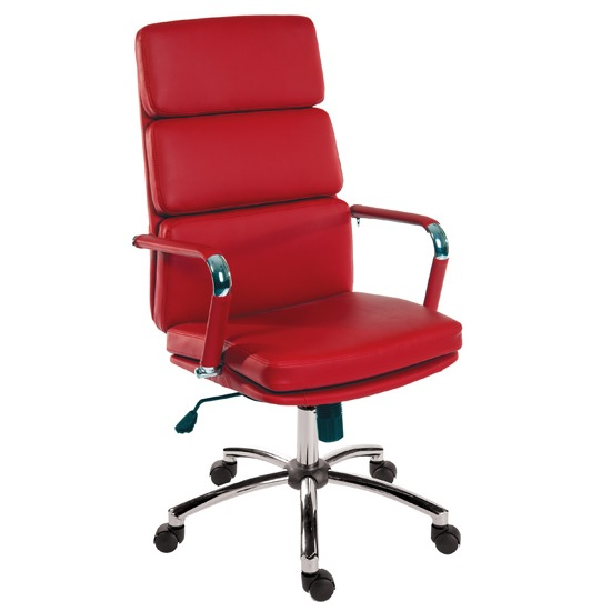 Deco Retro Eames Style Executive Office Chair In Red