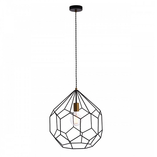 Deco Pendant Light With Metal Frame