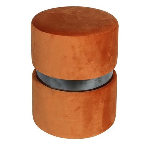 Delight Velvet Upholstered Stool In Curry