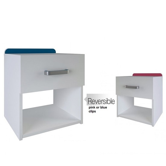 Delphi Bedside Cabinet In Pearl White With 1 Drawer