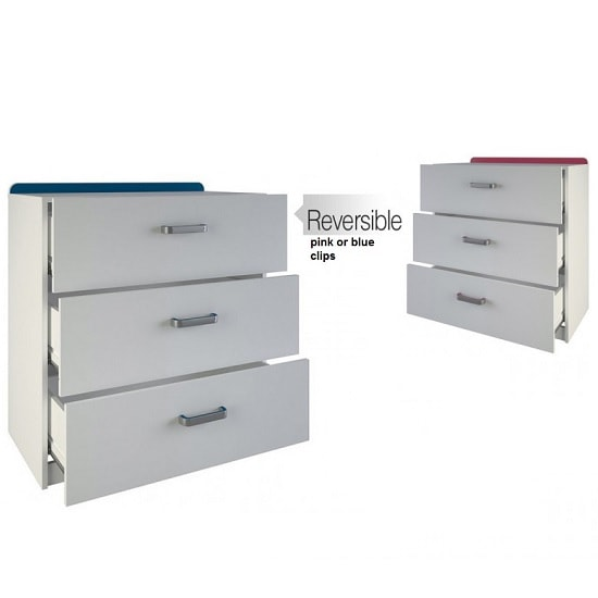 Delphi Chest Of Drawers In Pearl White With 3 Drawers