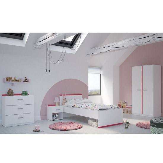 Delphi Wooden Children Bed In Pearl White_4