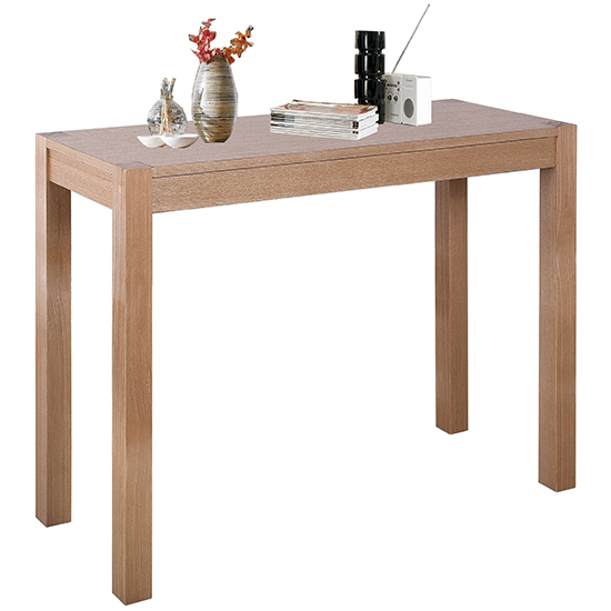 Delphini Wooden Console Table In Natural Ash