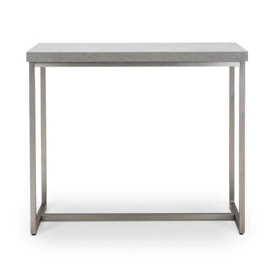 Delta Rectangle Console Table With Brushed Steel Base_2