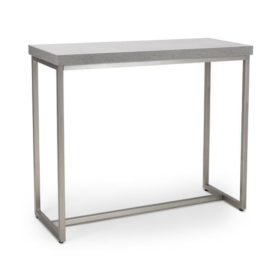 Delta Rectangle Console Table With Brushed Steel Base