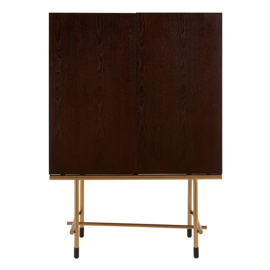 Bunda Wooden Wine Cabinet In Walnut